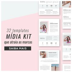 Template Midia Kit How To Get Money, Business Women, Slogan, Digital Marketing, Insight, About Me Blog, Social Media, App, Vsco
