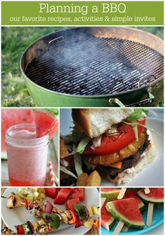 Planning a BBQ - favorite recipes, activities, etc