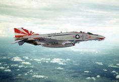 "US. Navy F-4B Phantom II from VF-111 ""Sundowners"" in the early 70's"