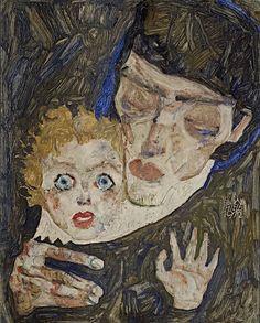 Egon Schiele, Mère et Enfant II-1912. on ArtStack #egon-schiele #art
