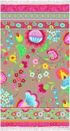 Prosop de Plaja Kalocsai - 100x180 cm Modern Beach Towels, Kids Rugs, Fabric, Prints, Cotton, Painting, Design, Home Decor, Washing Machine