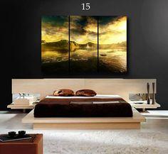 Cuadros Murales Tripticos, Modernos, Paisajes, 90 X 60 Cm - $ 550,00 en Mercado Libre