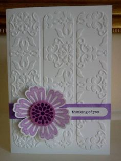 Embossed Panel Mixed Bunch by Sarah B - Cards and Paper Crafts at Splitcoaststampers