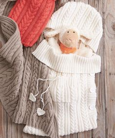 Knit Baby Sleep Sack, S8641 - Free Pattern - click to download More
