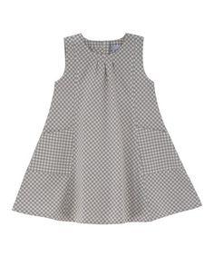 Look at this #zulilyfind! Gray Gingham Organic Swing Dress - Toddler & Girls by Serendipity Organics #zulilyfinds