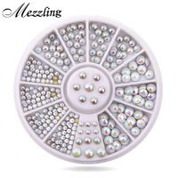 [Visit to Buy] Mix Sizes Semi-circle Flatback Glitter Nail Rhinestone Studs Wheel Set Hot DIY Nail Sticker Decoration Styling Tools 3d Nail Art, 3d Nails, Glitter Nails, Acrylic Nails, Stiletto Nails, Coffin Nails, Nail Art Rhinestones, Rhinestone Nails, Diy Nail Decorations