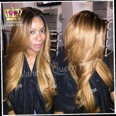 44.82$  Buy here - http://alibw6.worldwells.pw/go.php?t=32503346547 - Black to blond two tone ombre synthetic wig heat resistant synthetic lace front wigs for black women glueless body wave lace wig