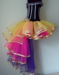 Carnival Mardi Gras Multi Coloured tutu skirt by thetutustoreuk, $59.00 I want this just to make my closet look pretty.
