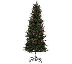 Take the work out of Christmas wonder with this lush Lakewood fir tree from Bethlehem Lights. QVC.com