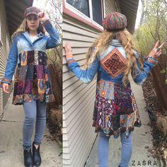 Patchwork Jacket Size XS/Sfestival jacket patchwork by zasra