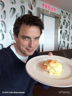 From John Barrowman! My favorite in the lounge at Virgin Atlantic Egg Royale. Jb