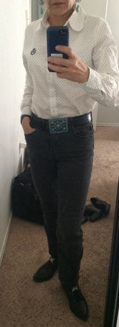 #todayslook #dots #jeans #country
