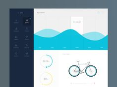 Biking dashboard designed by Gregoire Vella. Connect with them on Dribbble; the global community for designers and creative professionals. Dashboard Interface, Web Dashboard, Ui Web, Dashboard Design, User Interface Design, Index Design, Web Design, Graphic Design, Ui Design Inspiration