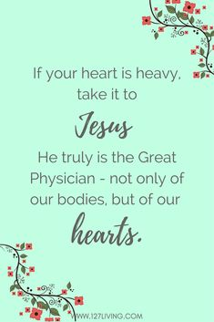 Jesus can heal our hearts. His truth exposes the lies of loneliness. Encouragement for when you're feeling alone.