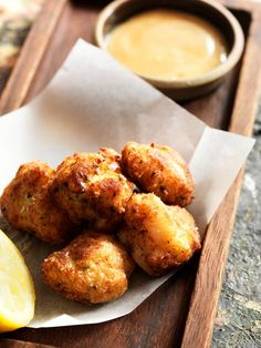 Salt cod fritters with orange alioli recipe by professional chef Ben Tish Cod Recipes, Fish Recipes, Seafood Recipes, Salt Cod Recipe, Spanish Food, Spanish Recipes, How To Cook Potatoes, Piece Of Bread, Best Chef