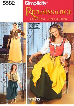 5582Misses Costumes Misses Renaissance Dresses