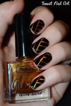 Egyptian Nails - stripping tape nail design