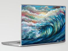 The Rainbow Wave Laptop & iPad Skin by CASM - $30.00