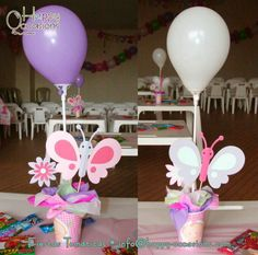 Happy Occasions F's Birthday / - Photo Gallery at Catch My Party Butterfly Birthday Party, Butterfly Baby Shower, 1st Birthday Girls, Birthday Parties, 15 Birthday, Homemade Birthday Decorations, Birthday Party Centerpieces, Butterfly Centerpieces, Butterfly Decorations