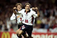 Michael Owen wonder goal vs Argentina, World Cup 1998 England National Football Team, England Football, National Football Teams, 1998 World Cup, Fifa World Cup, World Football, Football Soccer, Michael Owen, Wonder Boys