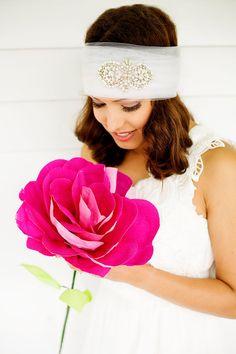 Giant Paper Flowers - Large Paper Rose - Hot Pink Roses - Bridal Bouquet - Alternative Bouquet - Fauxquet - Wedding Flowers - Paper Bouquet