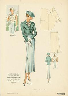 1935 vintage sewing pattern