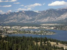 Invermere - where I grew up.  Mountains and water - how can you go wrong    ditto !