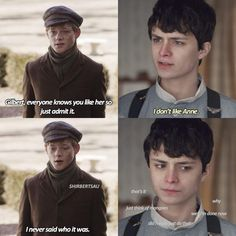 Few memes now 😂🥰 My two favourite boys in one photo💙🥶 - - - 🥰 🥰 🥵🥵🥵 Anne Shirley, Series Movies, Movies And Tv Shows, Lucas Jade Zumann, Gilbert And Anne, Amybeth Mcnulty, Gilbert Blythe, Anne With An E, Cuthbert