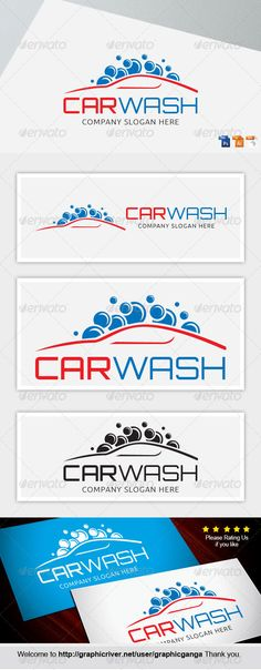 Carwash 2 — Photoshop PSD #express #logo • Available here → https://graphicriver.net/item/carwash-2/8696929?ref=pxcr