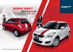 New Suzuki Swift GLX Limited ราคา 569,000 มาพร้อมกับอุปกรณ์แต่งพิเศษ สติ๊กเกอร์สปอร์ต ชุดแต่งคิ้วประตู Sport pedals ไฟห้องโดยสารแบบ LED