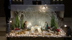 Church Christmas Decorations, Altar Decorations, Holiday Decor, Nativity Creche, Church Flower Arrangements, Xmas, Christmas Tree, Kirchen, Special Events