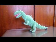 3d origami trex