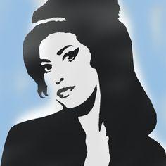 Amy Winehouse Stencil - Shop Stencils - Ideal Stencils http://www.idealstencils.co.uk/amy-winehouse-stencil-1298-p.asp