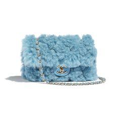 Chanel Women Flap Bag in Shearling Lambskin Leather-Blue Luxury Designer Handbags 90 OFF Sale Louis Vuitton LV Gucci Chanel Dior Fendi Prada Hermes Popular Handbags, Cute Handbags, Chanel Handbags, Fashion Handbags, Purses And Handbags, Fashion Bags, Cheap Handbags, Handbags Online, Chanel Bags