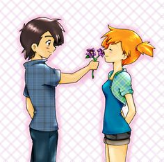 Ash x Misty  Oh my gosh, this is the cutest thing ever! :D