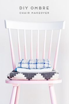 DIY ombre chair makeover with just two supplies (in under an hour!)