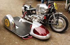 BMW sidecar racing rig with red plexiglass