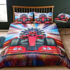 Cars Lightning McQueen Power Laps Queen Quilt Cover Set Flat or Fitted Sheet