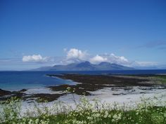 view of Rum from Isle of Muck