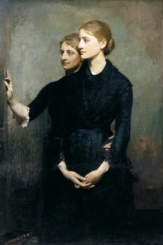 """ Abbott Handerson Thayer, The Sisters, c. 1884 """