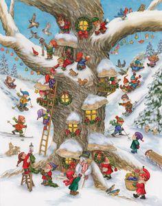 Elf Magic Advent Calendar   Large Fun & Whimsical   Vermont Christmas Co. VT Holiday Gift Shop