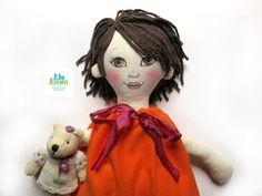 Daniela unique handmade doll handpainted by Lilo Limón on Etsy Custom orders accepted: lilo.limon@yahoo.com