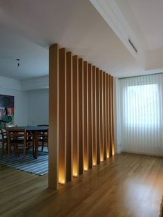 The Importance Of Interior Lighting Design In Life Page 33 Of 43 - Ceiling Decorations Living Room Partition Design, Room Partition Designs, Partition Ideas, Living Room Divider, Room Divider Walls, Design Room, House Design, Interior Modern, Office Interior Design