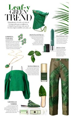 """""""Leaf-y Greens"""" by cranetattoo on Polyvore featuring Hellessy, F.R.S For Restless Sleepers, Charlotte Olympia, Larkspur & Hawk, GREEN and leafy"""