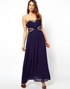 Navy shiffon dress