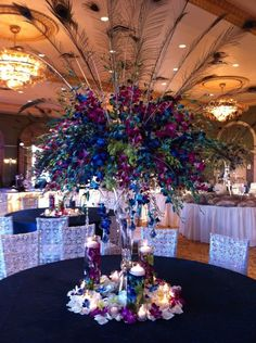 Choosing the wedding color theme for one's wedding can be both an exciting but extremely daunting task. Peacock Wedding Colors, Unique Wedding Colors, Peacock Decor, Peacock Theme, Purple Wedding, Gatsby Wedding, Our Wedding, Wedding Venues, Dream Wedding