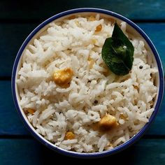 Coconut Rice Cooked Rice Recipes, Leftover Rice Recipes, White Rice Recipes, Chicken Rice Recipes, Easy Rice Recipes, Veg Recipes, Spicy Recipes, Sweets Recipes, Curd Rice Recipe