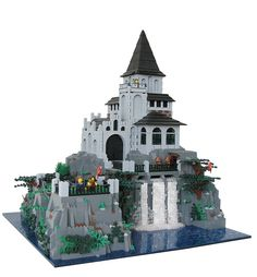 DarkWater Keep :: Castle. I guess that means I have too many legos now. Legos, Lego Burg, Lego Structures, Micro Lego, Lego Toys, Lego Lego, Amazing Lego Creations, Lego Construction, All Lego
