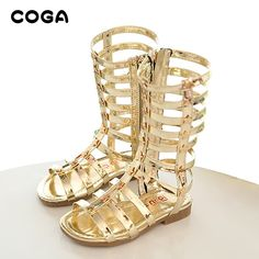 911766c636058d Awesome 2017 female child sandals princess shoes high shoes cutout  gladiator baby boots girl s fashion sandals -   - Buy it Now!