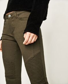 Image 6 of MID-RISE BIKER TROUSERS from Zara